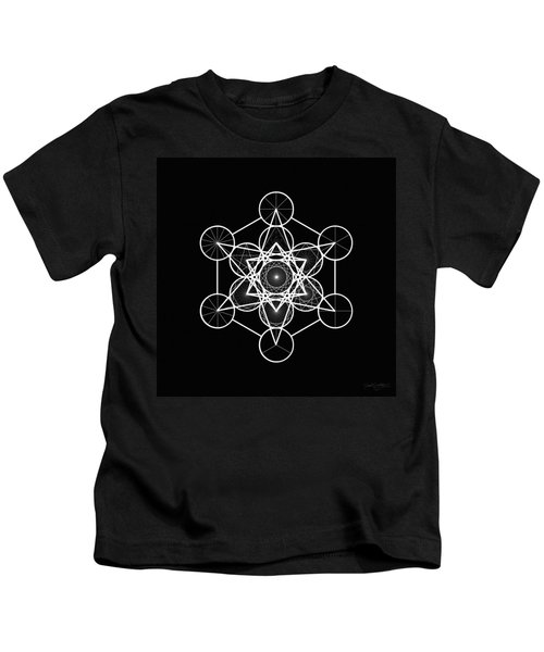 Metatron Wheel Cube Kids T-Shirt