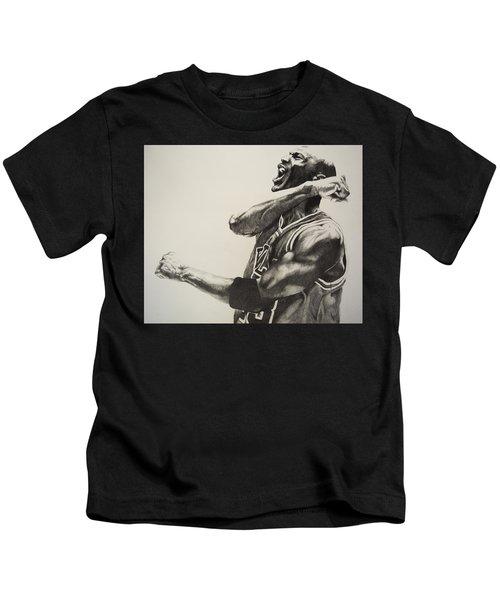 Michael Jordan Kids T-Shirt by Jake Stapleton