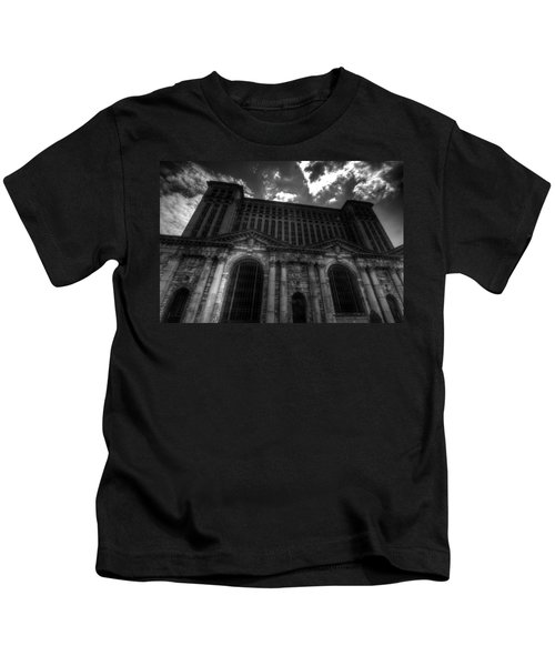 Michigan Central Station Highrise Kids T-Shirt