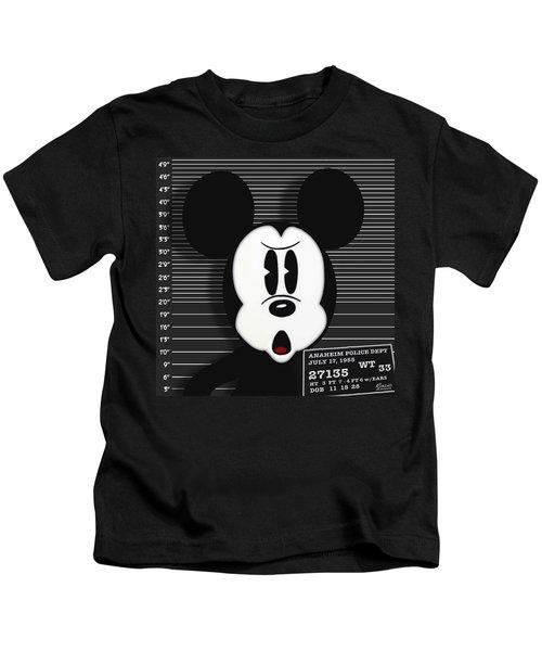 Mickey Mouse Disney Mug Shot Kids T-Shirt