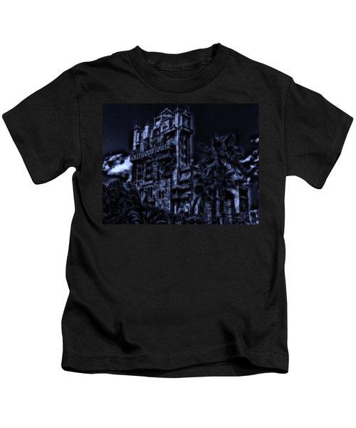 Midnight At The Tower Of Terror Kids T-Shirt