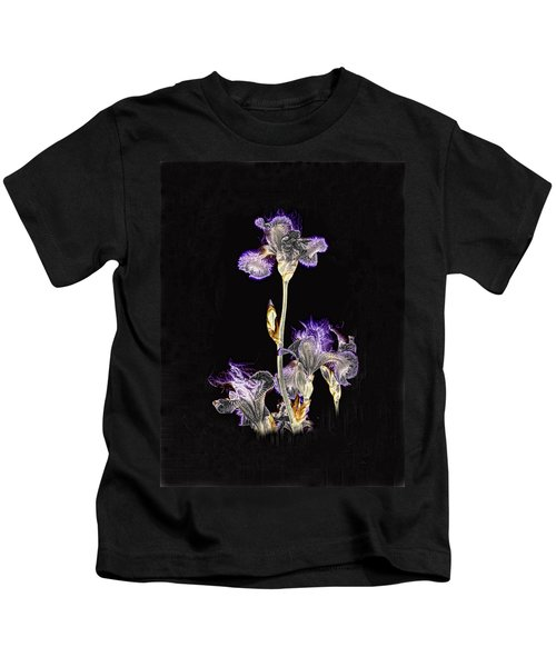 Midnight Iris Kids T-Shirt