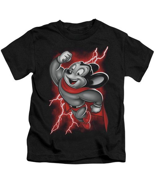 Mighty Mouse - Mighty Storm Kids T-Shirt by Brand A