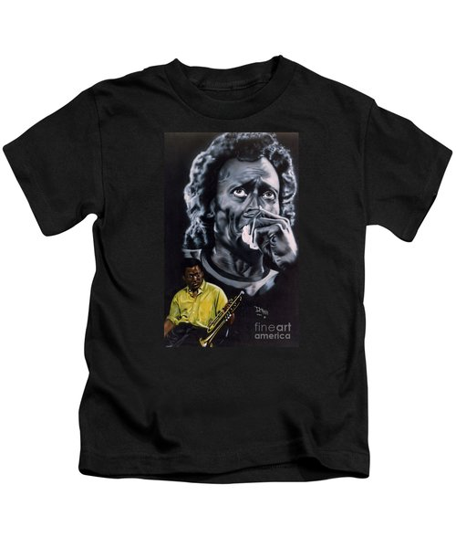Miles Davis Jazz King Kids T-Shirt