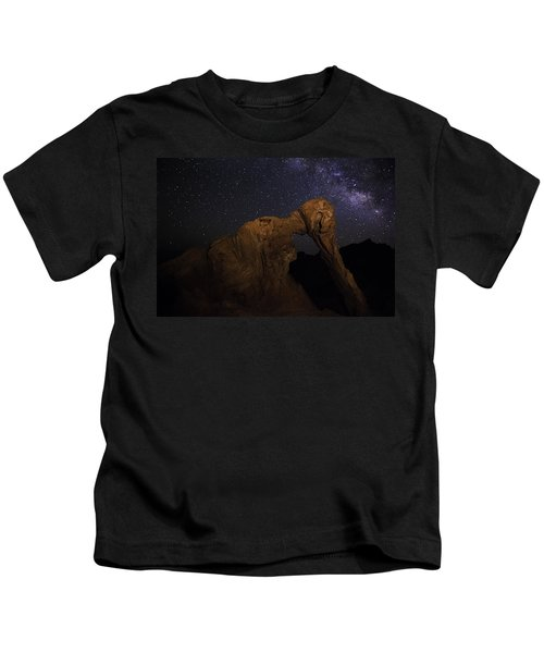 Milky Way Over The Elephant 2 Kids T-Shirt
