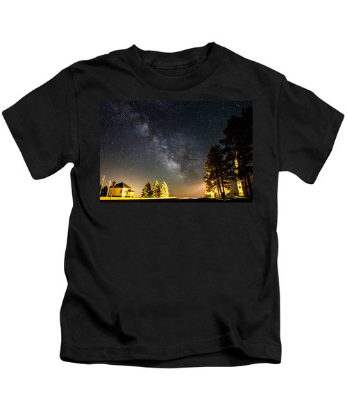 Milky Way From Oldham South Dakota Usa Kids T-Shirt