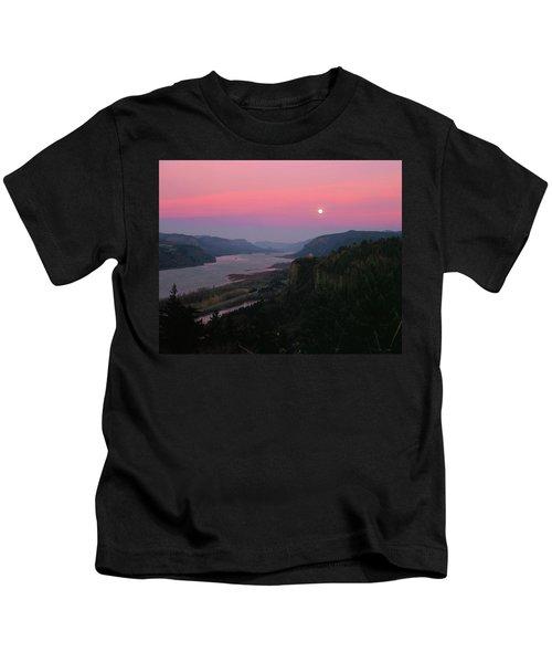 Millenium Moon Over Crown Point Kids T-Shirt