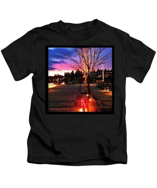 Millennium Park Plaza At Sunset Kids T-Shirt