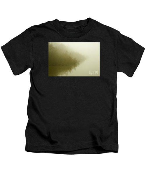 Misty Morning Reflection. Kids T-Shirt