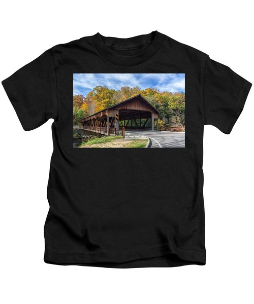 Mohican Covered Bridge Kids T-Shirt