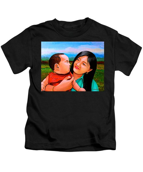 Mom And Babe Kids T-Shirt