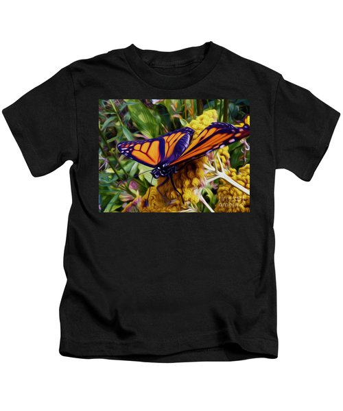 Monarch On Yarrow Kids T-Shirt