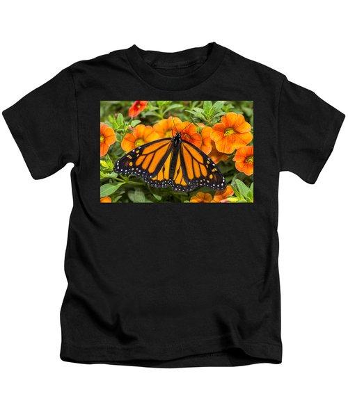 Monarch Resting Kids T-Shirt