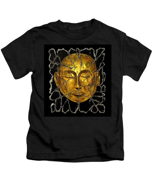 Monk In Meditation Kids T-Shirt