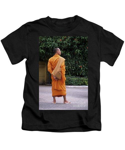 Monk Phnom Penh Cambodia Kids T-Shirt