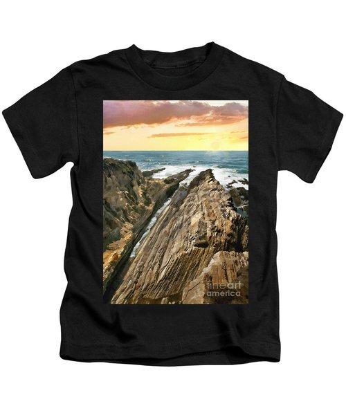 Montana De Oro Shore Kids T-Shirt