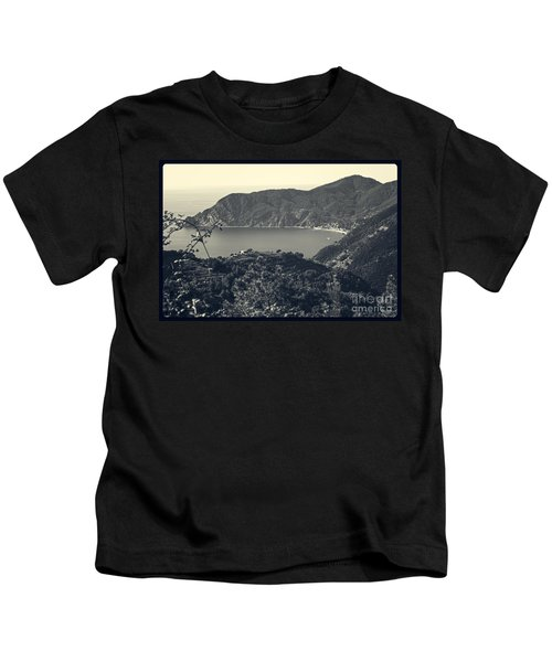 Monterosso Al Mare From Above Kids T-Shirt