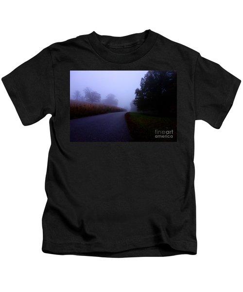 Moody Autumn Pathway Kids T-Shirt