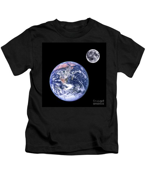 Moon And Earth Kids T-Shirt