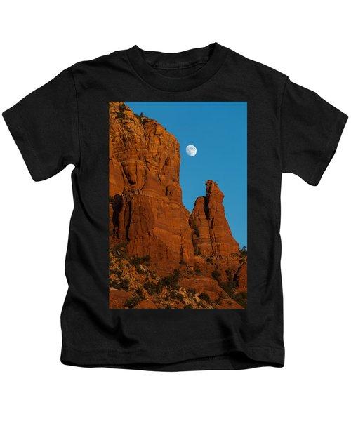 Moon Over Chicken Point Kids T-Shirt