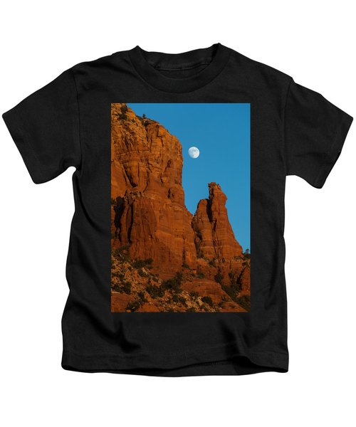 Moon Over Chicken Point Kids T-Shirt
