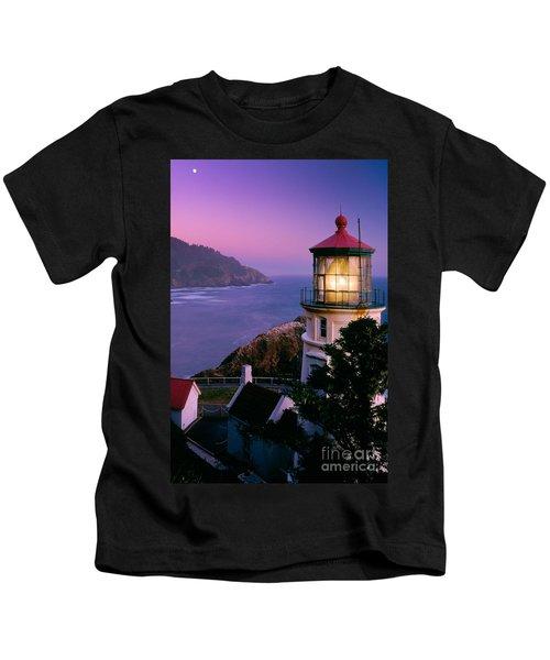 Moon Over Heceta Head Kids T-Shirt