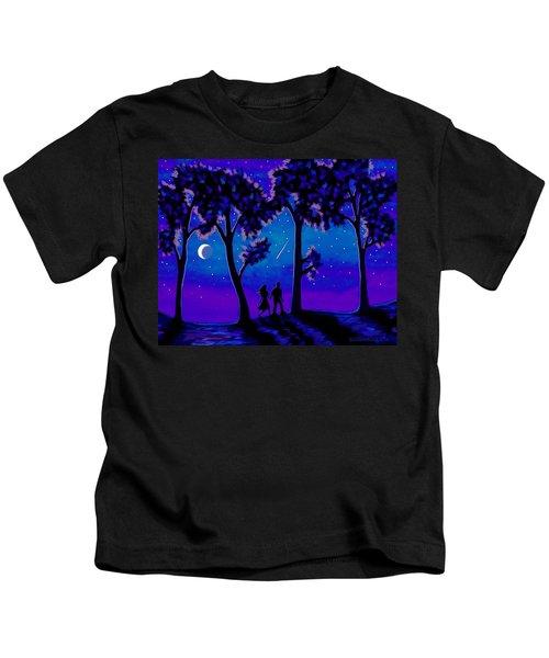 Moonlight Walk Kids T-Shirt