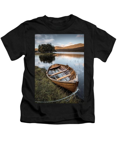 Moored On Loch Awe Kids T-Shirt