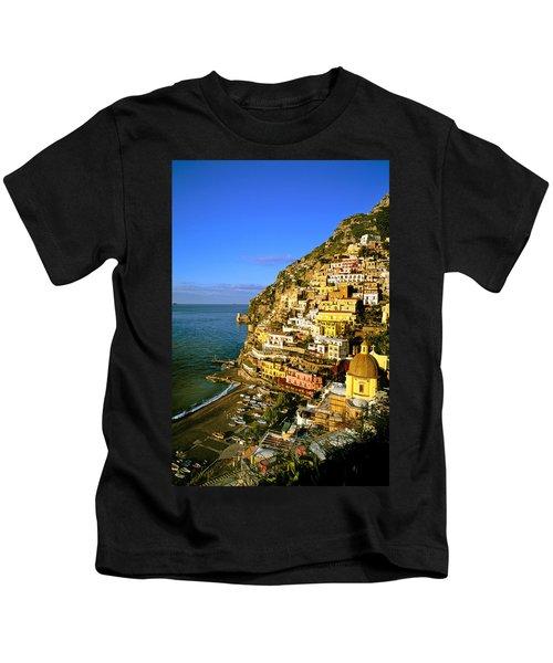 Morning Light Positano Italy Kids T-Shirt