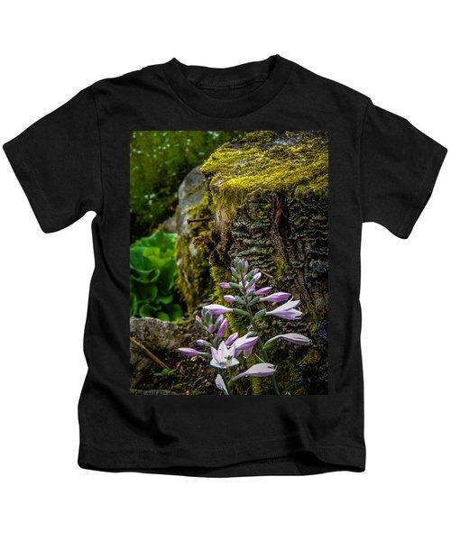 Moss And Flowers In Markree Castle Gardens Kids T-Shirt