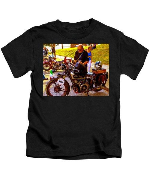 Moto Guzzi At Cannonball Motorcycle Kids T-Shirt