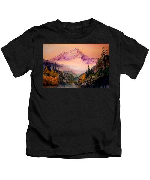Mount Baker Morning Kids T-Shirt
