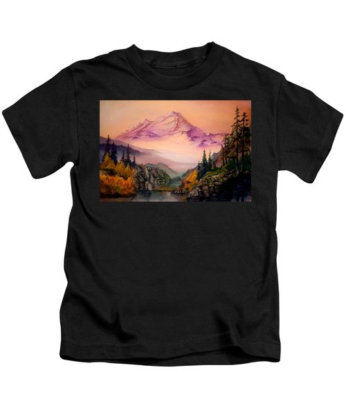 Mount Baker Morning Kids T-Shirt