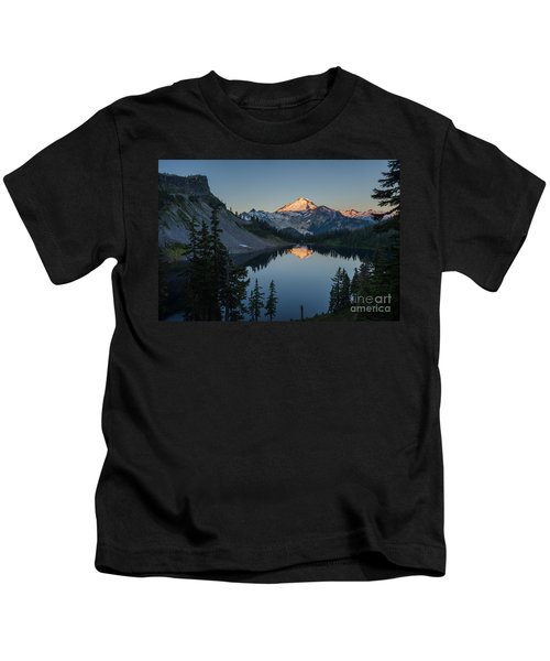 Mount Baker Sunrise Reflection Serenity Kids T-Shirt