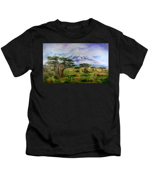 Mount Kilimanjaro Tanzania Kids T-Shirt