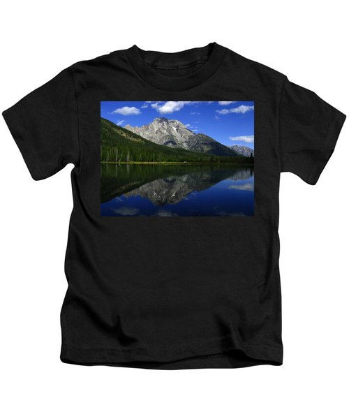 Mount Moran And String Lake Kids T-Shirt