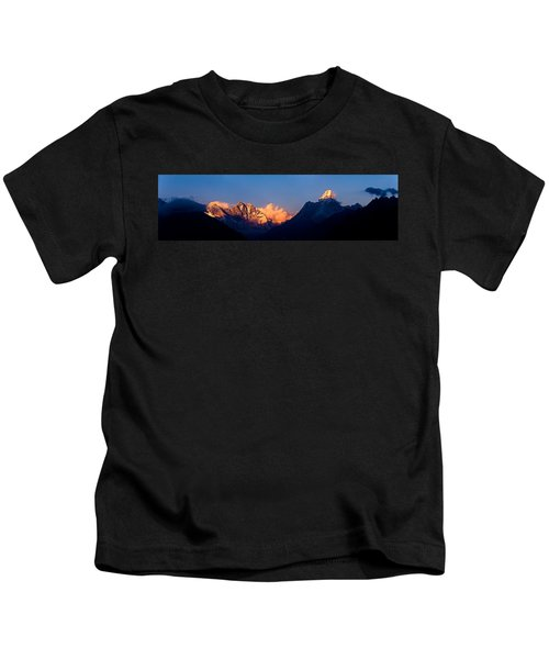 Mountain Range At Dusk, Ama Dablam Kids T-Shirt