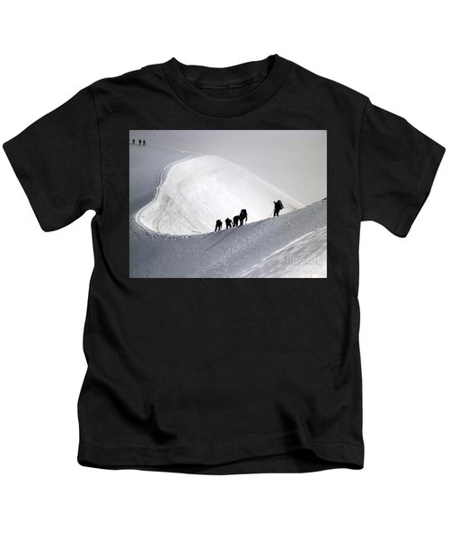Mountaineers To Conquer Mont Blanc Kids T-Shirt