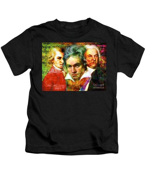 Mozart Beethoven Bach 20140128 Kids T-Shirt
