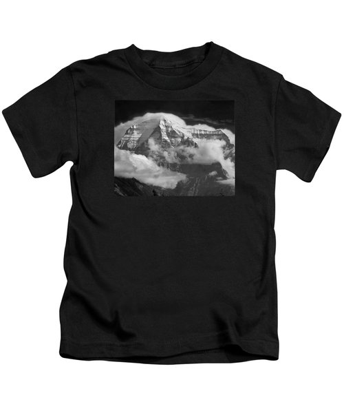 102496-mt. Robson Wreathed In Clouds Kids T-Shirt