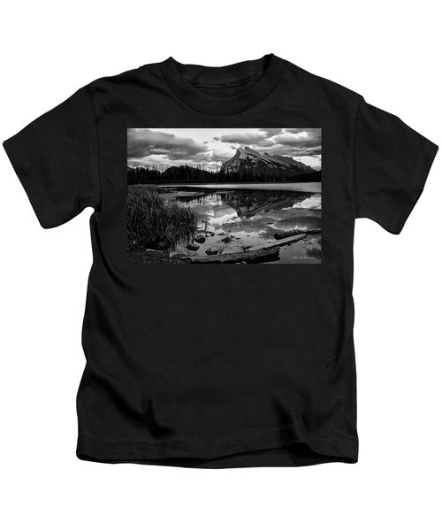 Mt. Rundle Reflection Kids T-Shirt