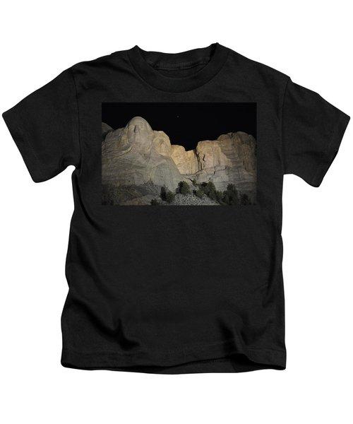 Mt. Rushmore At Night Kids T-Shirt