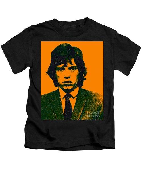 Mugshot Mick Jagger P0 Kids T-Shirt