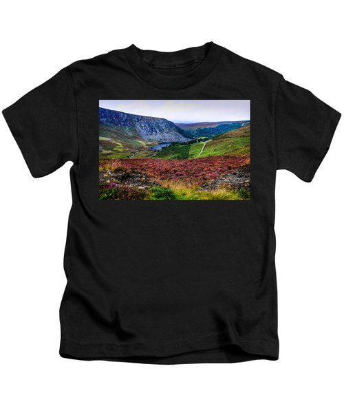 Multicolored Carpet Of Wicklow Hills. Ireland Kids T-Shirt