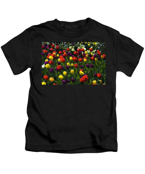 Colorful Tulip Field Kids T-Shirt