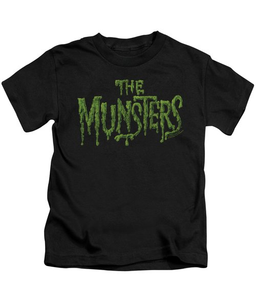 Munsters - Distress Logo Kids T-Shirt