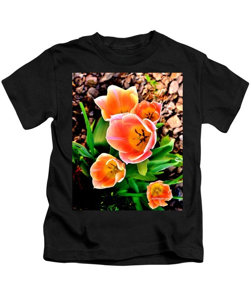 My Mom's Tulips Kids T-Shirt