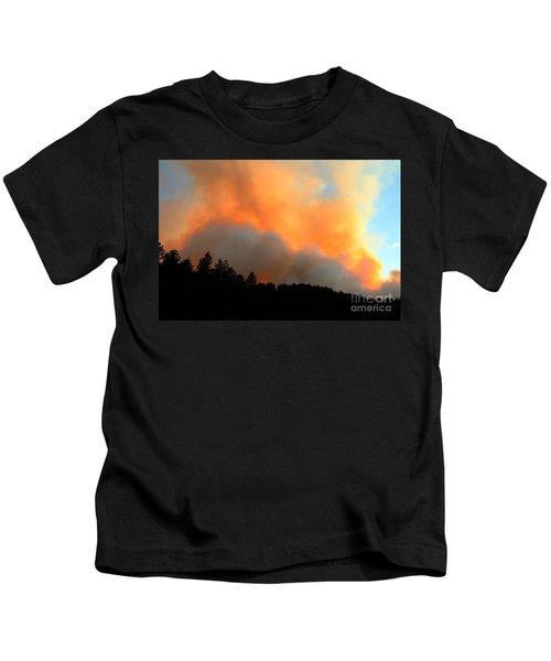 Myrtle Fire Near Rifle Pit Road Kids T-Shirt