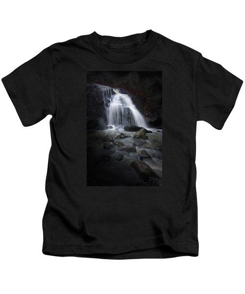 Mysterious Waterfall Kids T-Shirt