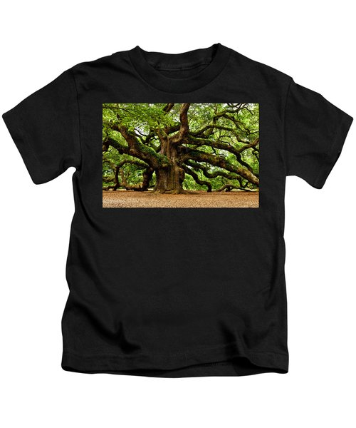 Mystical Angel Oak Tree Kids T-Shirt